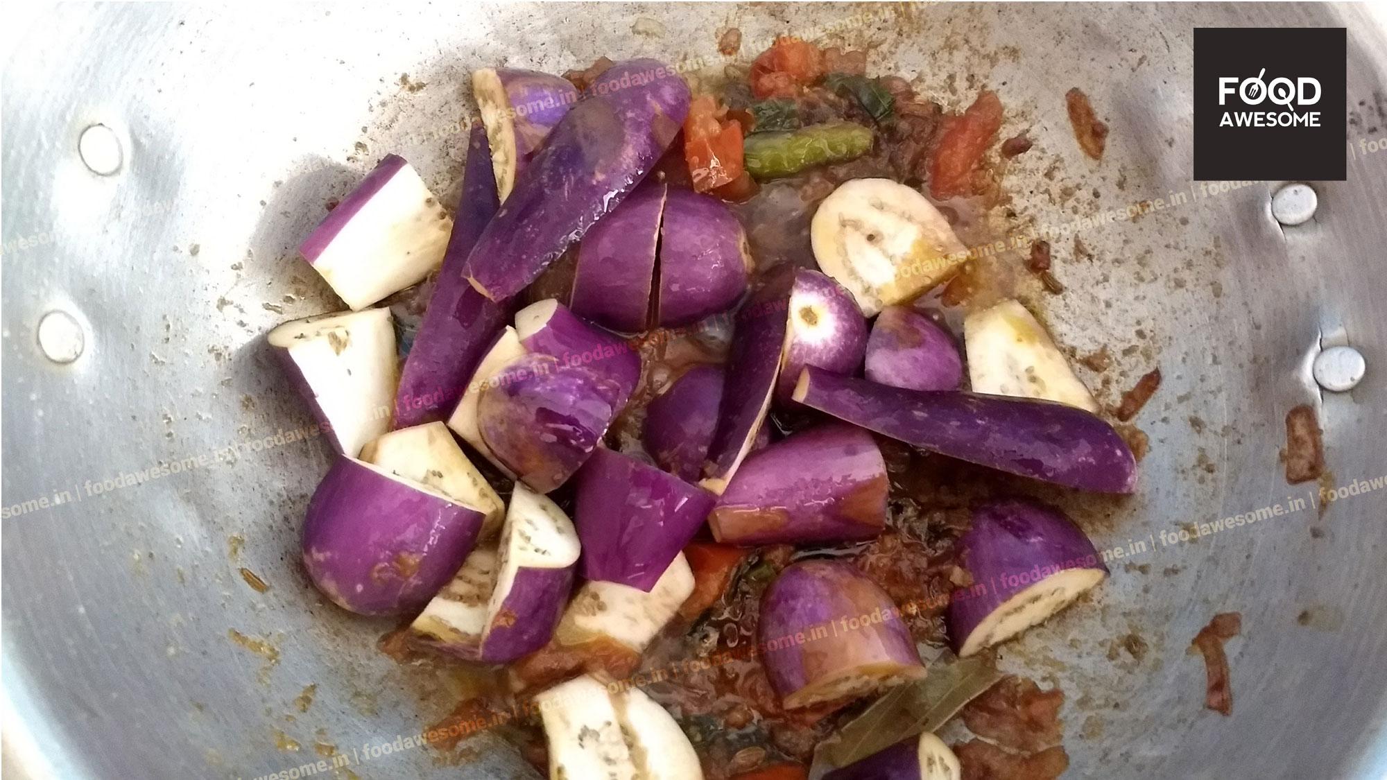 channa brinjal kulambu for rice � foodawesomein
